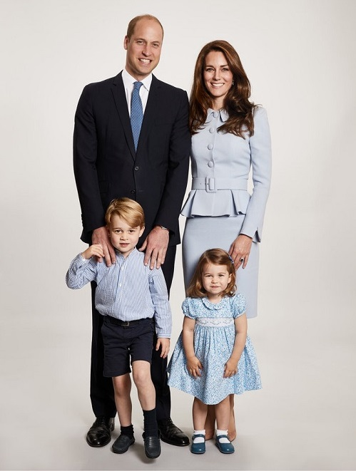 Princess Charlotte with her family