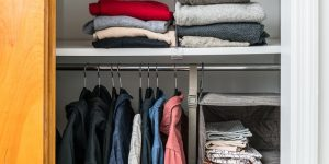 Clothing Rack with Shelves